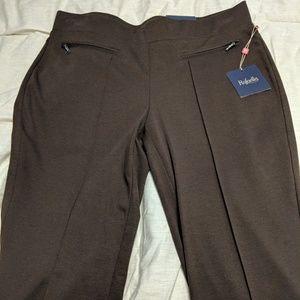 Knit Brown Dress Pants